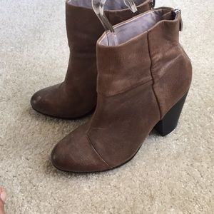 Vince Camuto distressed brown boots